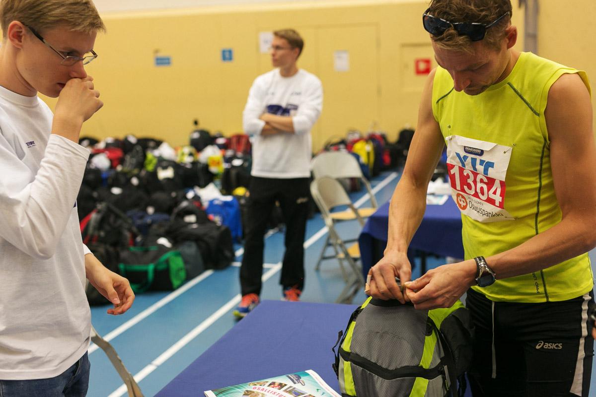 varusteiden säilytys finlandia maraton